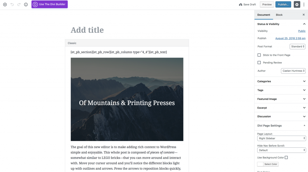 wordpress gutenberg tutorials screenshot